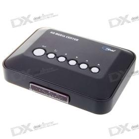 (Csak Nagykereskedelmi) DiyoMate 720p HD Media Center RM / RMVB / AVI / MPEG4 TV Player 2 * USB Host és SDHC SKU: 22081