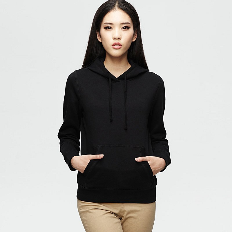 The Gallery For Gt Plain Black Hoodie