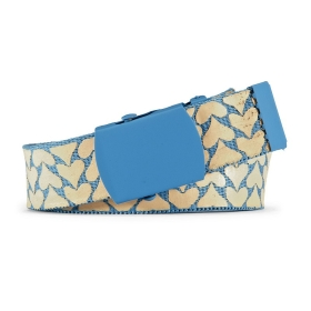 VANCL Sweety Heart-Print Belt (Women) Blue+Pink SKU:507981