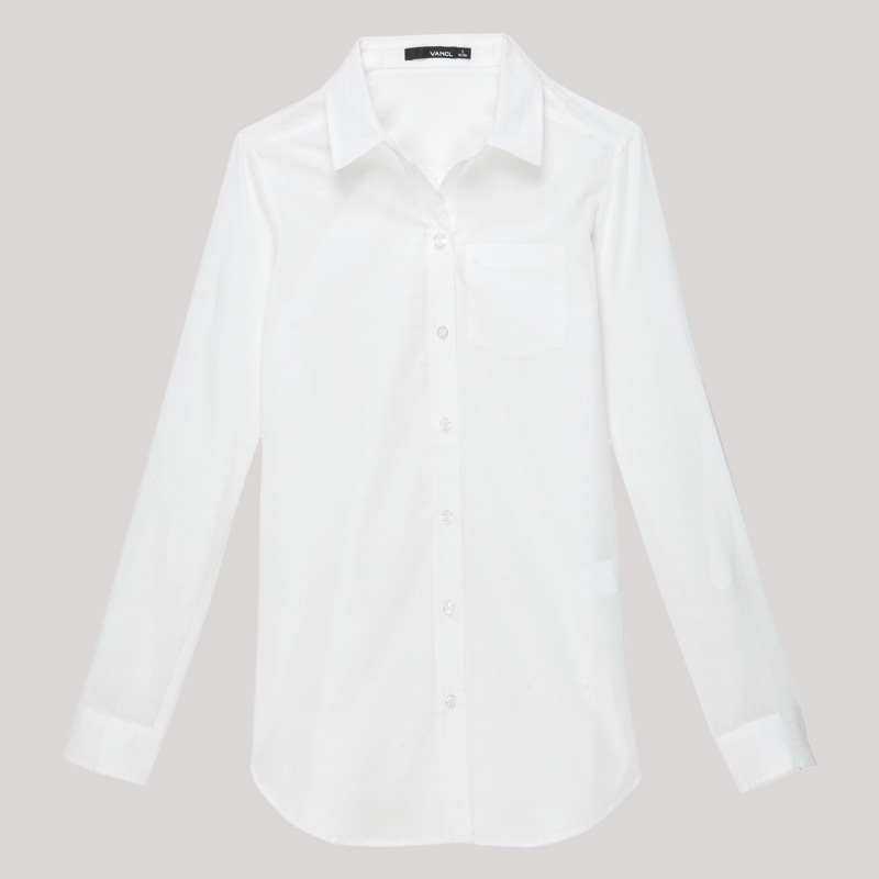 Vancl elegant button down shirt s white sku 39281 vente for Womens white button down shirt
