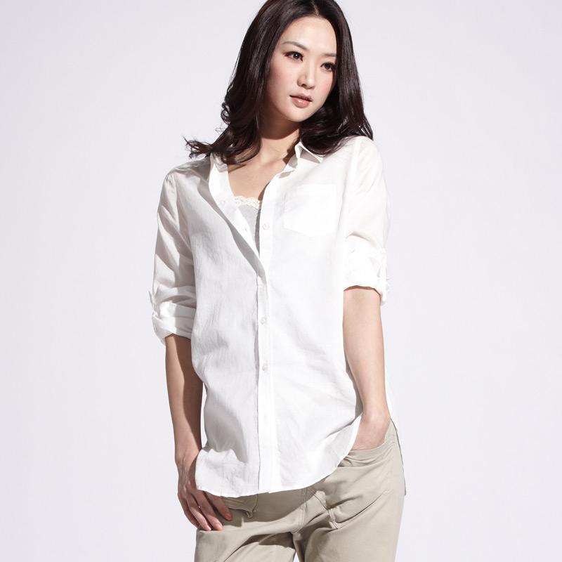 VANCL Elegant Button Down Shirt s White SKU 39281