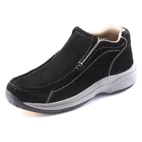 VANCL Stitching Detail Nubuck Casual Shoes Black SKU:26257
