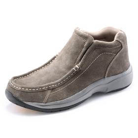 VANCL Stitching Detail Nubuck Casual Shoes Light Grey SKU:26259