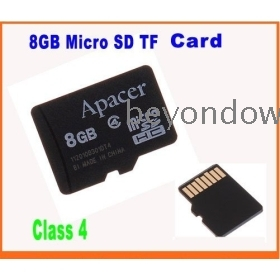 Dropshipping Real Capacity  8GB Micro SD  Flash Memory Card Mobile Series -4G Class 4 ,Free Shipping