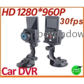 """Dropshipping 2.5"""" Car DVR Camera support night vision with HD 1280*960 video resolution vehicle Dvr Free Shipping"""