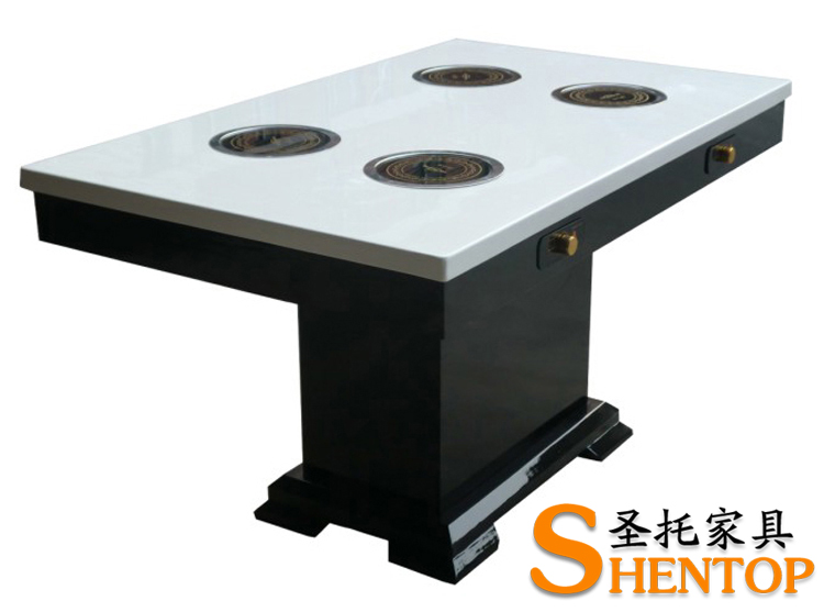 Shentop pot table fast table induction cooker pot - Table induction 2 feux ...