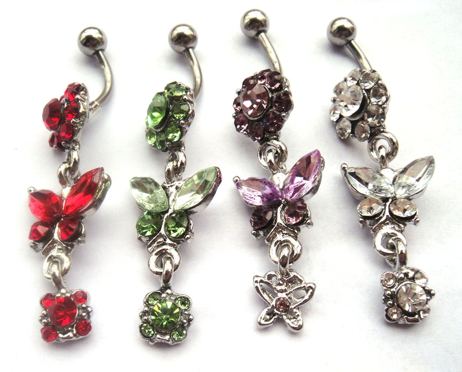 jewelry dangle belly button rings surgical