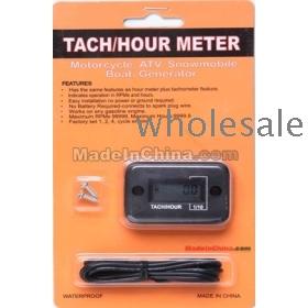 Tach/Hour Meter Waterproof For Gasoline Engine Marine Motorcycle Snowmobil ATV Generators 2&4 stroke Waterproof