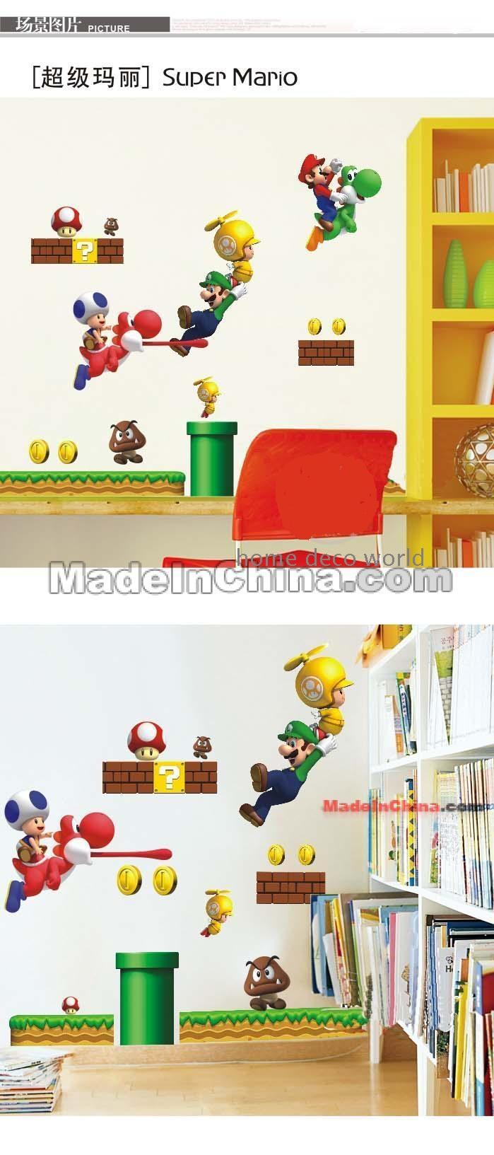 Dm5768 super mario wall sticker 3rd generation wholesale for Room decor jeneration