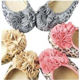 Szexi női lapos cipő Lepard Big virág lakások Size34-42 US3-11 szürke rózsaszín arany alkalmi lakások balett lakások Kényelmes lapos cipő női Nagy méretű lakások