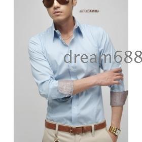 בגדים מכותנה הטהור גברים מותג חדשים משלוח חינם ארוך שרוולים חולצת טריקו חולצות גודל ML XL rr1