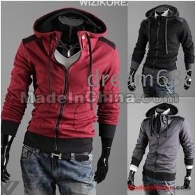 Promotion price !!! free shipping Men's Recreational garment cap even coat  fleeces SWEATER size M L XL XXL --8