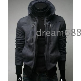 hot sale brand new men's SWEATER coat thick knitting clothing faddish  clothes b6