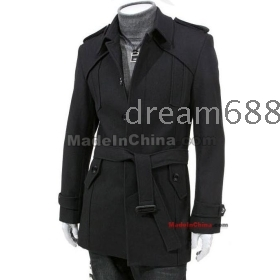 Promotion price !!! free shipping new MEN'S  dust coat warm coat man of England's coat size M L XL XXL---8