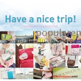 Wholesale 5pcs Travel Passport Holder Card Cash Ticket Purse Bag Coupons Storage Women Wallet Clutch Bag