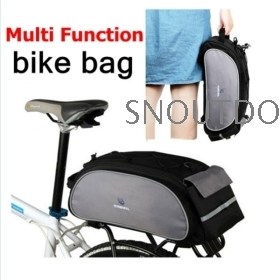 2012 New Cycling Bicycle Bag Bike Outdoor Travel Rear Seat Bag Pannier Black 13L