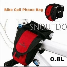 2012 New Fashion Bicycle Multi-Function Bike Beam Bag Red Bike Mobile Phone Bag