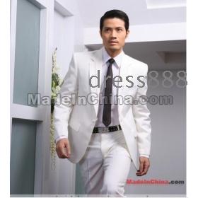 2012 Vőlegény Szmoking esküvői ruha férfi öltöny 4 db szett (kabát nadrág Bowtie Derék-Pape) ingyenes szállítás