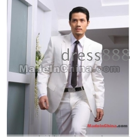2012 Groom Tuxedos wedding  dress men's Suit 4 Pieces Set(Jacket Pants Bowtie Waist-pape)  free shipping
