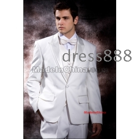 2012 Hot sell Groom Tuxedos wedding  dress men's Suit 4 Pieces Set(Jacket Pants Bowtie Waist-pape)  free shipping