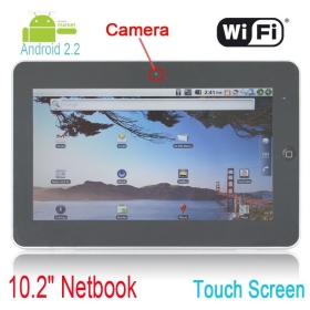 10 inch tablet pc Android 2.2 1GHZ 4GB 512 wifi camera suporrt 3G GPS  screen Flytouch 3