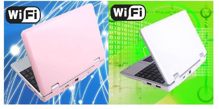 Großhandel 800MHZ 256MB 7inch Mini Netbook Laptop Notebook WIFI Google Android 2.2 / CE6.0