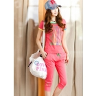 Han edition big yards women's sport suit of female money chun xia leisure suit fat mm sportswear HanGuoWei garment sets