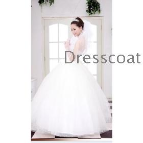 Winter wedding dress new marriage gauze han edition wedding dress new winter marriage gauze wiping a bosom set auger