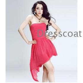 Asymmetric skirt wiping a bosom dress dress toast clothing