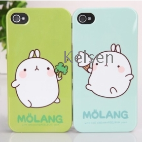 Korea Molang case for iphone4/4S, free shipping by DHL/EMS 30pcs/lot