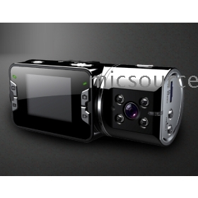 H305 Car DVR Dual Camera 2.0 TFT LCD and 5.0 mega  100 degree wideangle lens + 180 degree rotation Free Shipping