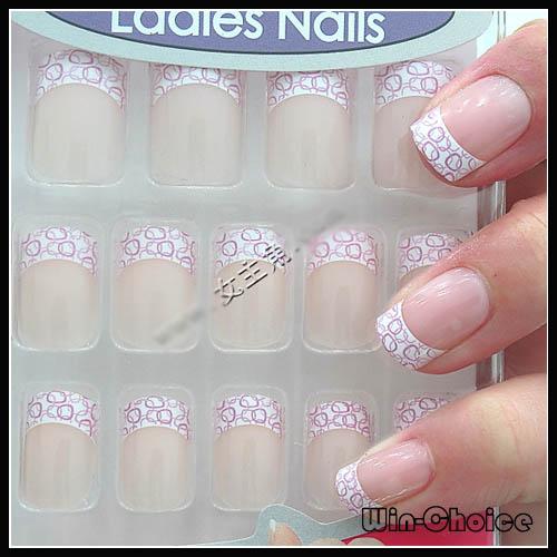 Pre Design Nail Tips Acrylic Various Designs