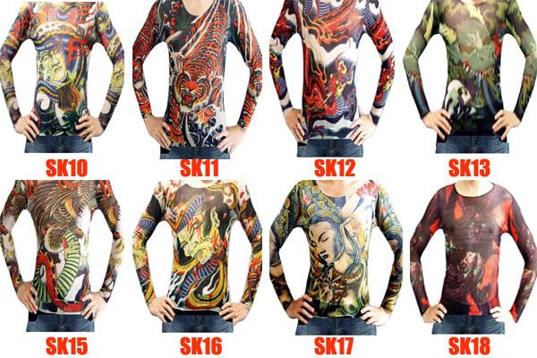 Long Sleeve Tattoo T Shirts Fashion Designs Wholesale