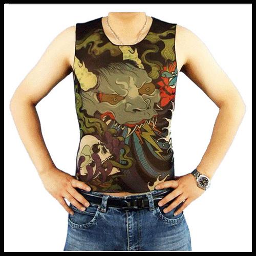 50pcs tattoo t shirts sleeveless for men tattoo for Tattoo t shirts wholesale