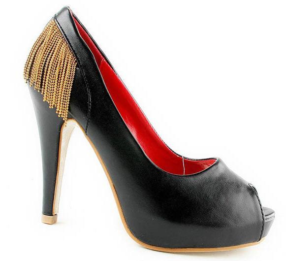 Fekete szexi száj vízálló cipő hal magas sarkú cipő gép jellemzői címer  egyetlen cipő női cipő ... ca227f8956