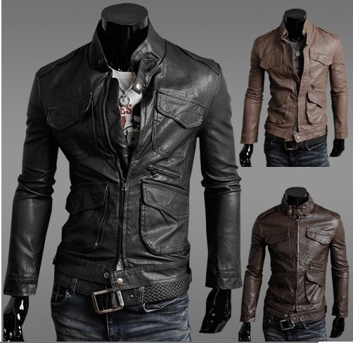 Fashion Men S Motorcycle Slim Men S Leather Trgovina Na