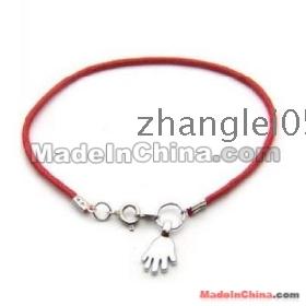 free shipping!!! 100pcs Kabbalah Red String Hamsa Hand Silver Colour Bracelet