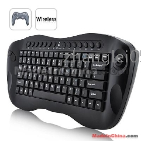 free shipping!!! Computer Remote Control Mini Wireless Keyboard with Trackball