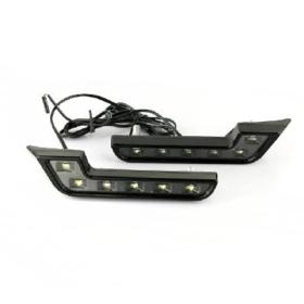 free shipping!!! 12V Car White L 6 LED DRL Daytime Running Fog  Light Lamp
