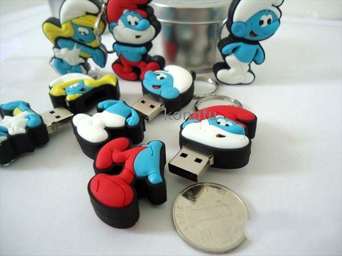 Crazy πωλήσεις 100 % πλήρη δυναμικότητα Στρουμφίτα Στρουμφάκια USB flash drive 1G 2G 4G 8G 16G 32G RA - 8467 τιμή ευκαιρίας χονδρική Δωρεάν αποστολή