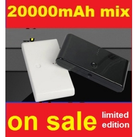 20000mAh Universal Power Bank USB Battery Charger External Battery Pack With Retail Box Free Shipping!