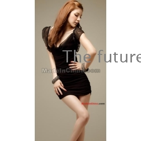 free shipping new Women's Sexy vest skirt render dress skirt