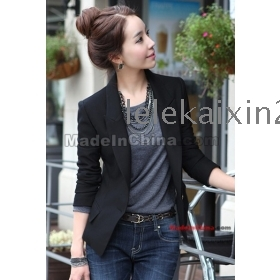 2012 the new spring clothing big black women's han edition lady code small suit cultivate one's morality small suit small jacket female brief paragraph