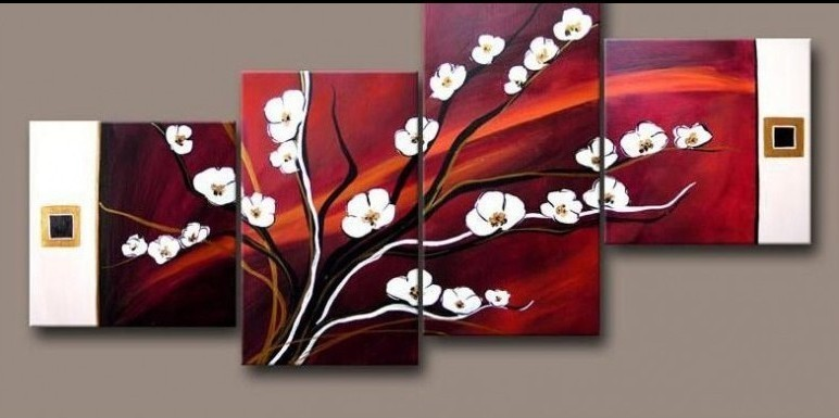 2011 Abstract Huge Wall Decor Art Flowers Oil Wholesale 2011 Wholesale Abstract Huge Wall
