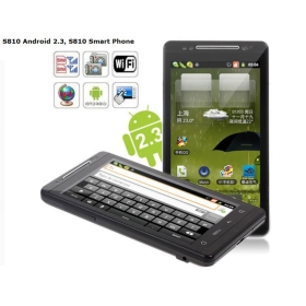 4.3 inch Android 2.3 3G Smartphone S810 WCDMA+GSM WiFi GPS Dual SIM Capacitive  Screen (Black)
