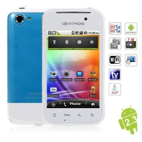 """Free Shipping 3.5""""Android 2.3.6 L621 Dual Sim WIFI TV Mobile Quad band Unlocked Smart Cell Phone(Blue)"""