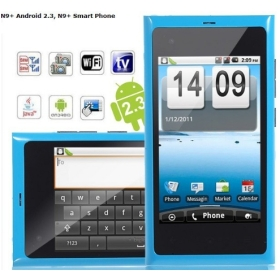 + Android 2.3 Smartphone Dual SIM with 3.5 inch  Screen WiFi Analog TV (Blue)