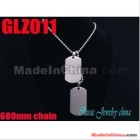 Wholesale - 3.000mm chain 316L stainless steel private tags pendant man male necklace chains set GLZ011
