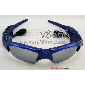 Wholesale-HOT SELL!!! 2GB Headset glasses Mp3 Player Stylish Sport Mp3 sunglasses Player gift MP3,fast shipping