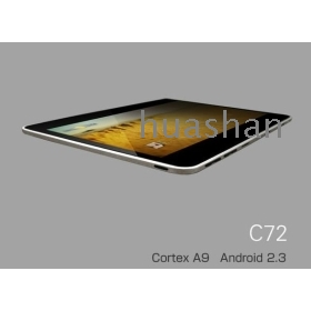 7 hüvelykes kapacitív érintőképernyő Ultravékony Tablet PC, Zenithink C72 Cortex A9 1GMHz, android 2.3,512M / 4GB, támogatja a WiFi, a külső 3G, HDMI